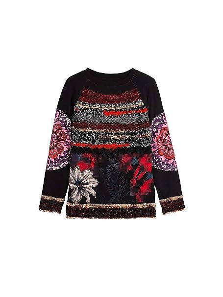 envío gratis en venta bajo precio Desigual Camiseta Milena Negra de Mujer.: Amazon.es: Ropa y ...