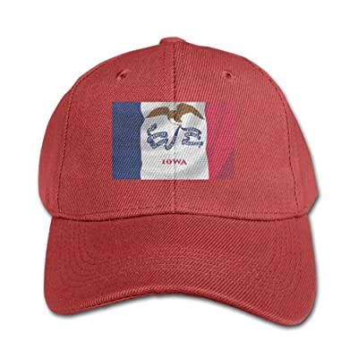 Elephant AN Stock Photo Flag Of Owa State-waving In The Wind Detail Pure Color Baseball Cap Cotton Adjustable Kid Boys Girls Hat