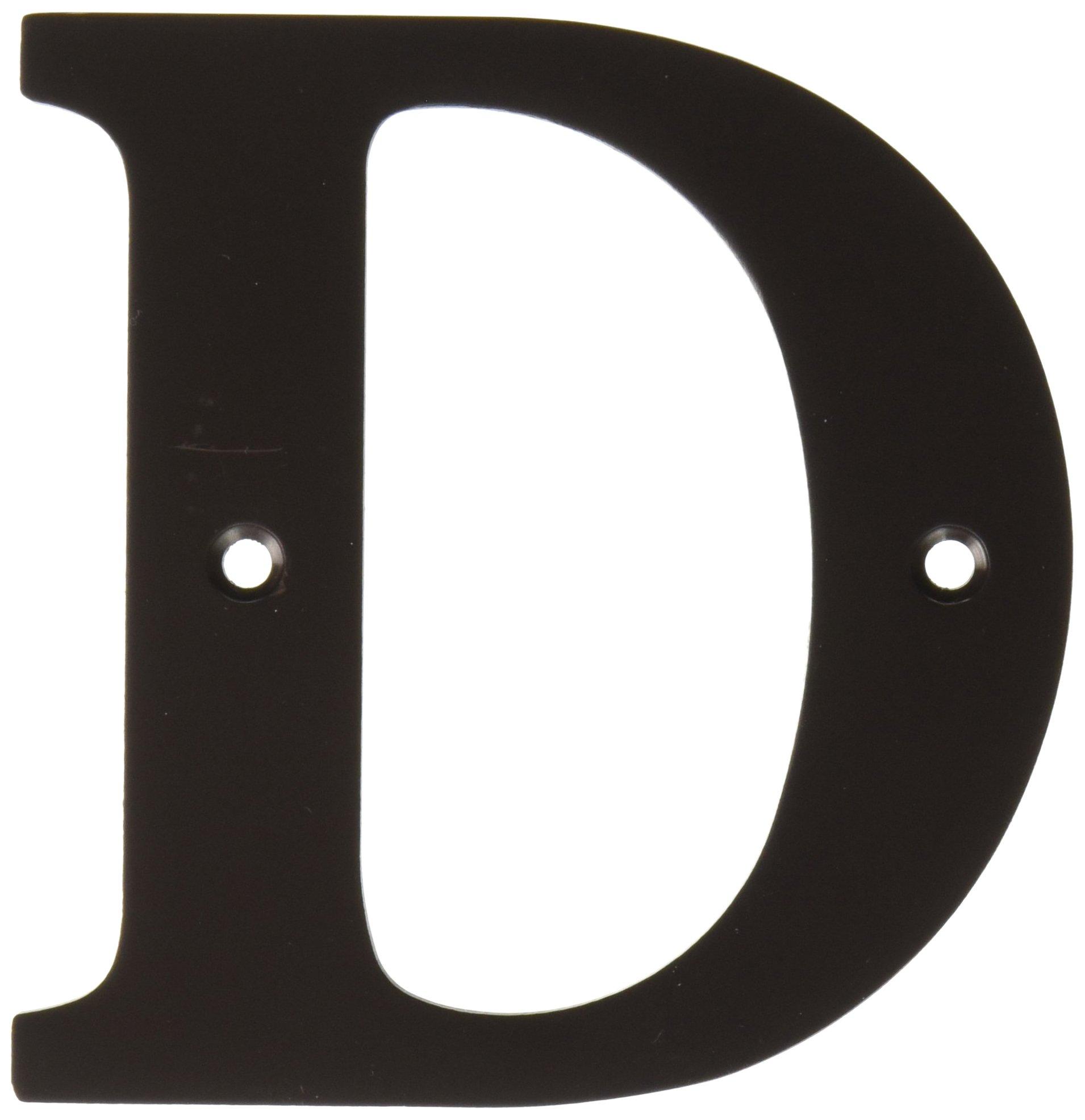 Deltana RL4D-10B 4-Inch Residential Letter D House Board