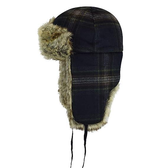 e12df82b Kangol Men's Wool Ushanka Trapper HAT Check, M: Amazon.co.uk: Clothing