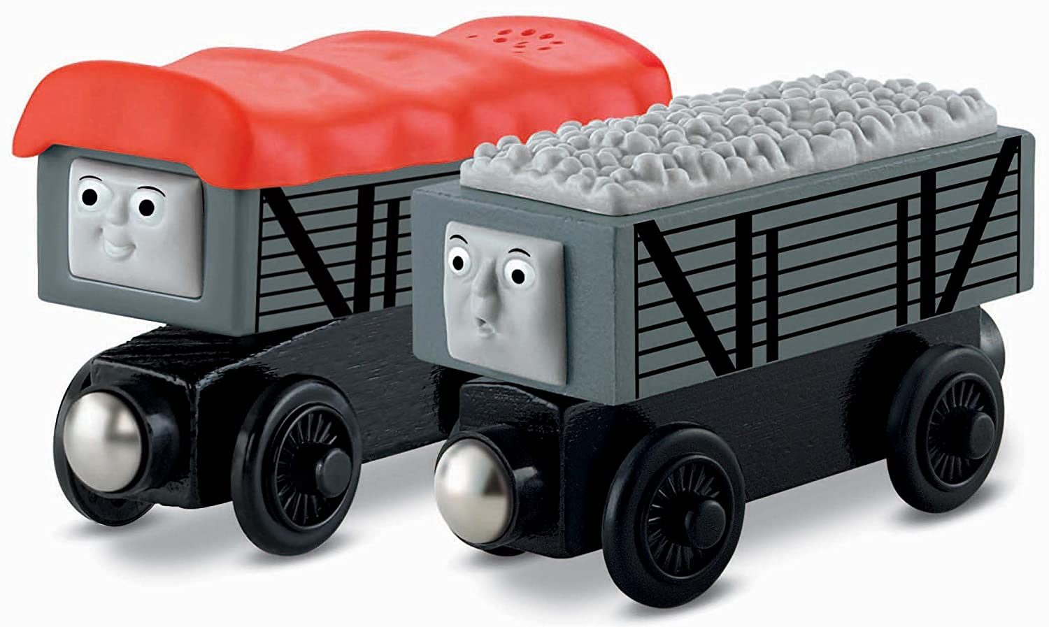 Fisher Price Thomas Friends Wooden Railway Giggling Troublesome Trucks Battery Operated