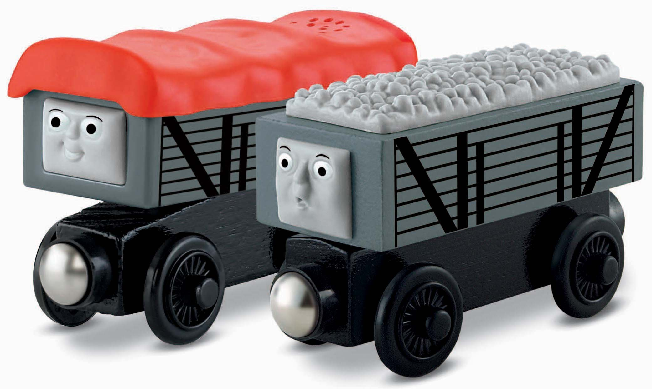 Thomas & Friends Fisher-Price Wooden Railway, Giggling Troublesome Trucks - Battery Operated
