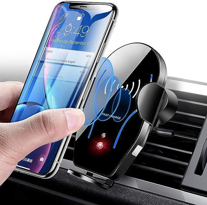 15W//10W//7.5W Estaci/ón de Carga Qi Soportes de Carga de para iPhone 11//11 Pro//11 Pro Max//SE 2020//Xs Max//XR//X//8 Plus Samsung S20//S10//S9//S8//S10+//S9+//S8+//Note10 KONKY Cargador Inal/ámbrico R/ápido 2 en 1