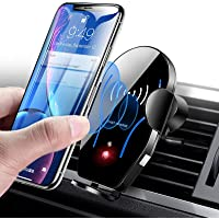 Wireless Car Charger Mount, Mikikin Auto-Clamping Qi 10W 7.5W Fast Charging Car Phone Holder Air Vent Compatible with…