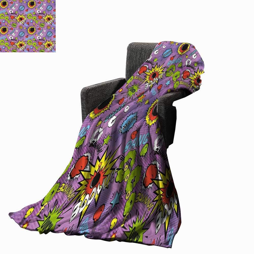 Amazon.com: Luckyee Superhero Super Soft Lightweight Blanket ...