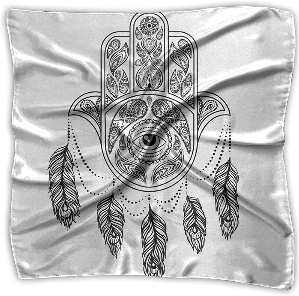 Diadema cuadrada, pañuelo de ojos de plumas de pavo real dibujado a mano, diademas cuadradas novedosas para motociclismo de caza