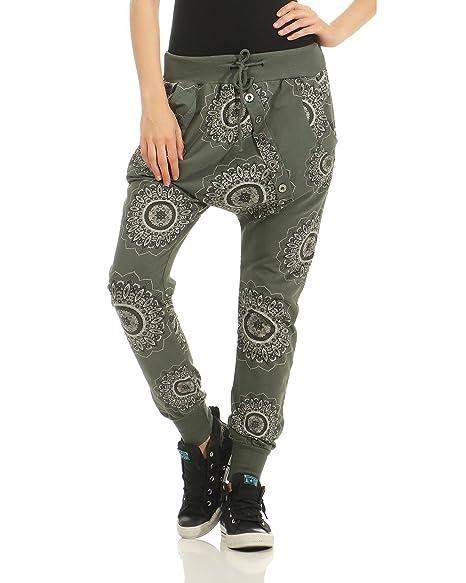 ZARMEXX trendy Damen Sweatpants Baggy Boyfriend Freizeithose Jogginghose  Baumwolle Sporthose Loose fit (armee, 36-40)  Amazon.de  Bekleidung 81c74456fd
