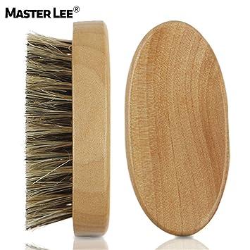 Masterlee®Beard Cepillo Y Barba Peine Para Hombre Aseo, Peinado Y Modelado - Madera