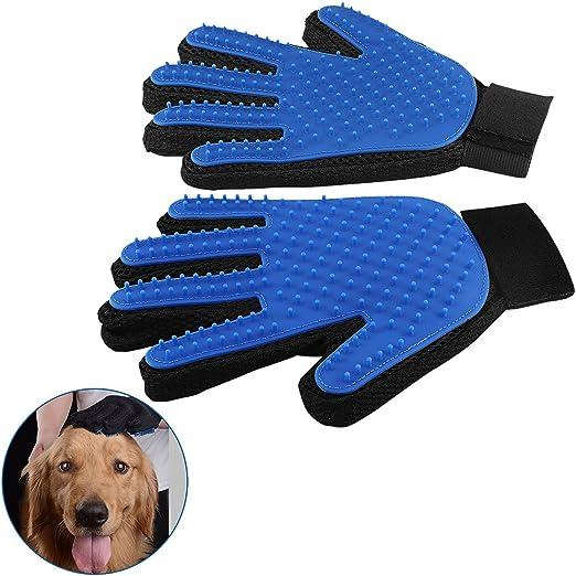 alipige - Par de Guantes de Silicona con función de Cepillo, Peine, para masajear y peinar Suavemente el Pelo de tu Perro o tu Gato (C): Amazon.es: Productos para mascotas
