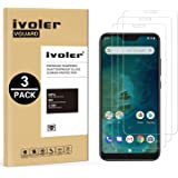 iVoler [3 Pack] Compatible with Xiaomi Mi A2 Lite Screen Protector, Tempered Glass Film [9H Hardness] [Anti-Scratch] [Crystal Clear]
