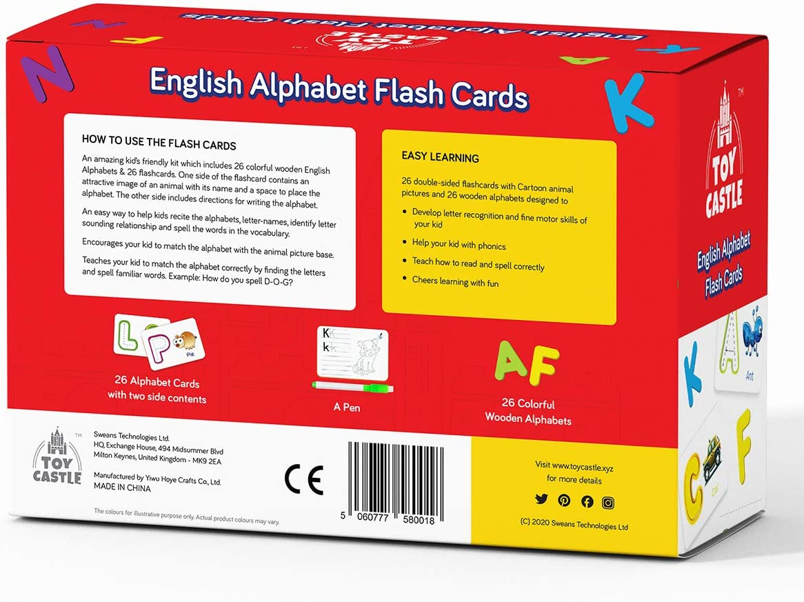 abc flash cards Letter flash cards for toddlers and Preschool activities Montessori Educational Toys Gift ABC Wooden Letters Animal Card Board Toddlers 3 and above. English Alphabet Flash Cards