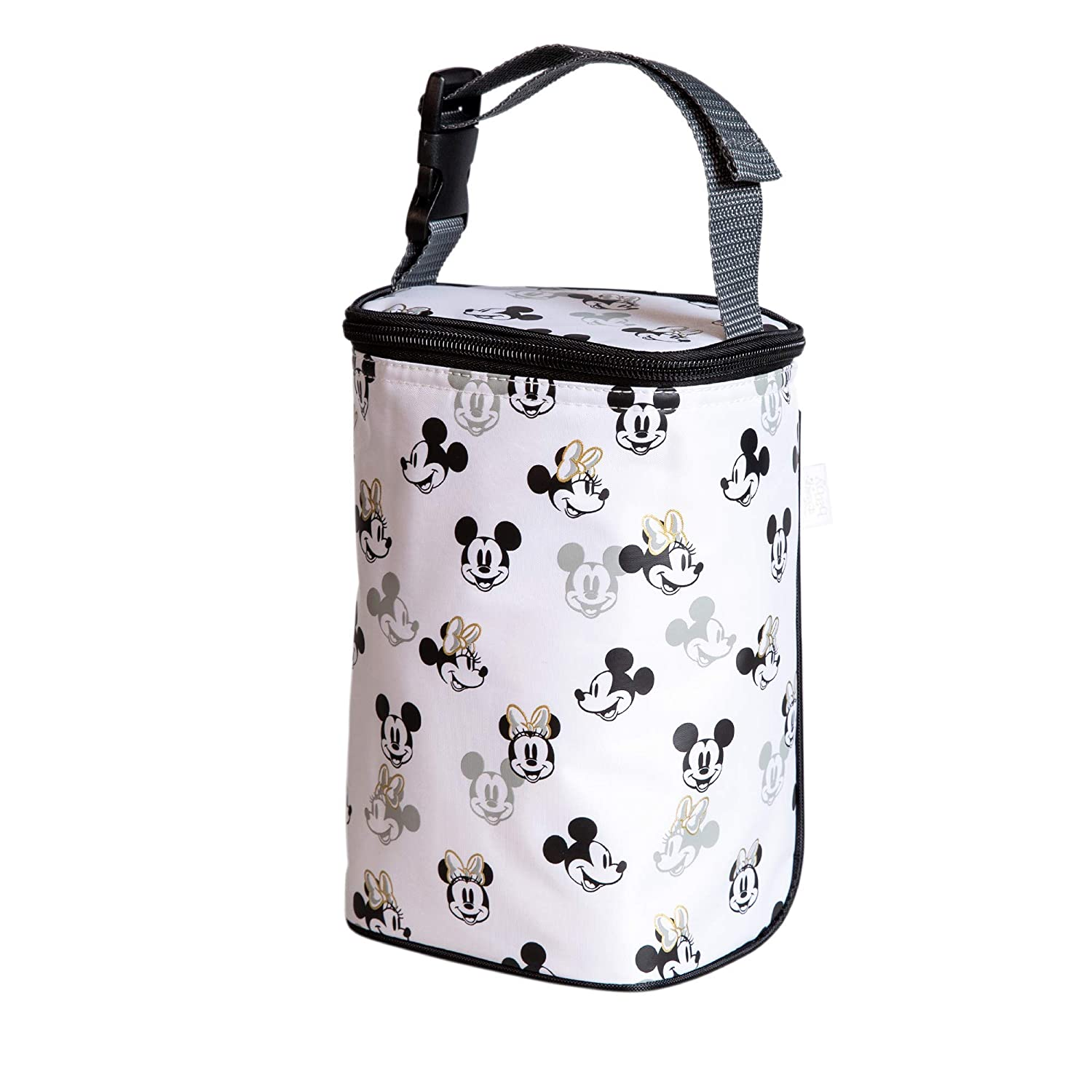 J.L. Childress Disney Baby Tall Twocool Breastmilk Cooler, Baby Bottle & Baby Food Bag, Mickey Minnie Ivory
