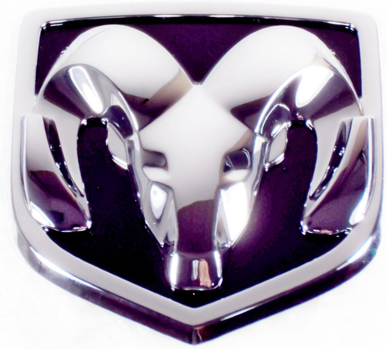Matte Black 3D RAMS Head Mopar Front Grille Emblem for DODGE RAM 1500 2500 3500