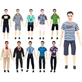 XADP 5 Sets Ken Clothes Doll Casual/Career Wear Clothes Jacket Pants Outfits for Barbie's Boy Friend Ken Barbie Dolls