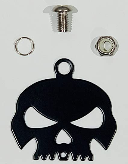 Fits all Harley Davidson Motorcycles /& More Bolt and Ring Included Chrome Kustom Cycle Parts Universal Gloss Black Skull Bell Hanger With Bell Proudly MADE IN THE USA!