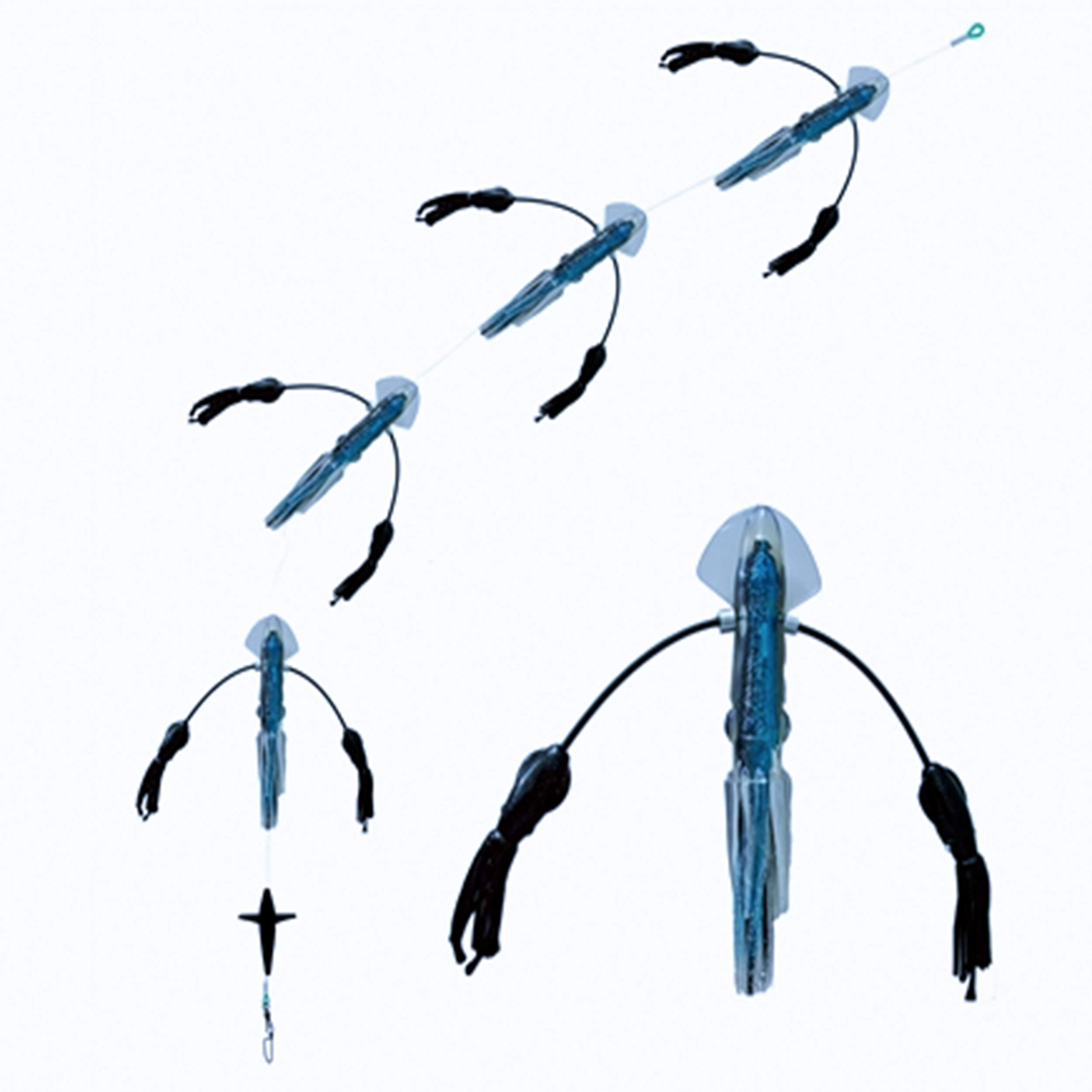 Squidnation Long Tail Flippy Floppy Thing Fishing Daisy Chain Tuna & Marlin Magnet (627)