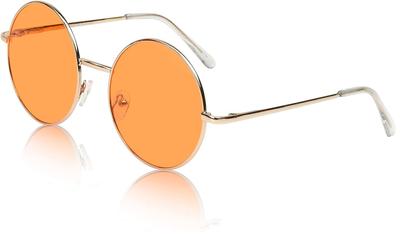 WLONG Round Sunglasses Women Men Circle Hippie Sun Glasses Sunglasses Polarized Glass Driving Outdoor UV400