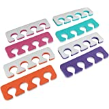 Toe Separators, Soft Two Tone Toe Spacers, Great Toe Cushions, Apply Nail Polish During Pedicure and Other Uses, 12 Pack