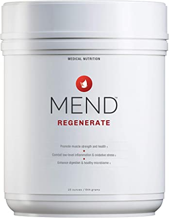 MEND Regenerate, Post Workout Muscle Recovery, Immune Support, and Sports Nutrition Supplement for Men and Women - Natural, Gluten Free, and Non-GMO - Cocoa Protein Powder, 20 Servings