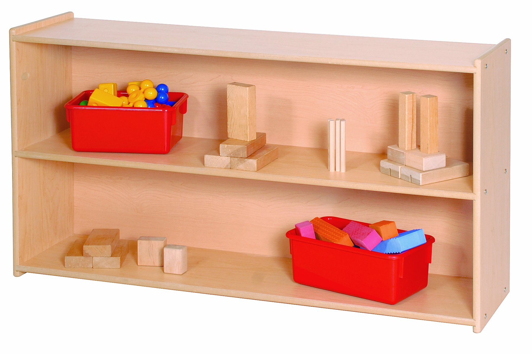 Steffy Wood Products 27-Inch High 2-Shelf Storage