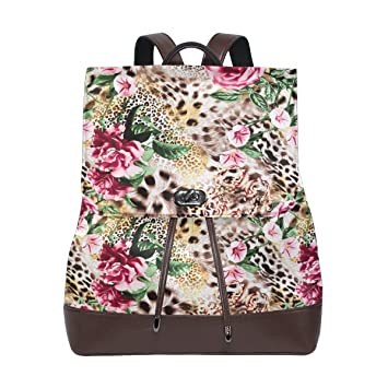 39eae7f70b57 Amazon.com | KUWT Striped Leopard Skin and Flower PU Leather ...