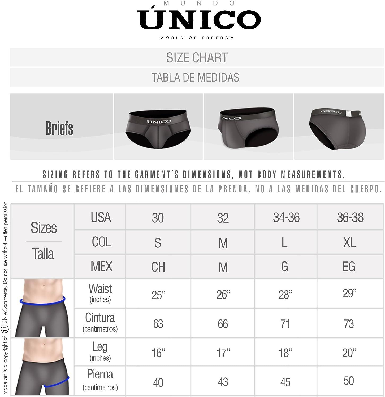Mundo Unico Stripes Microfiber Brief Underwear Calzoncillos para Hombres