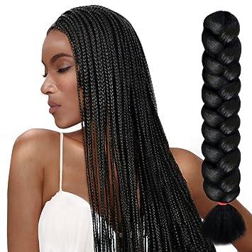 Amazon Com Sleek 1 Piece Premium Synthetic 30 Soft Jumbo Braiding