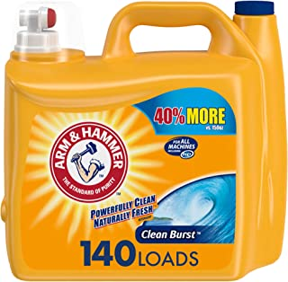 product image for Arm & Hammer Clean Burst, 140 Loads Liquid Laundry Detergent, 210 Fl oz