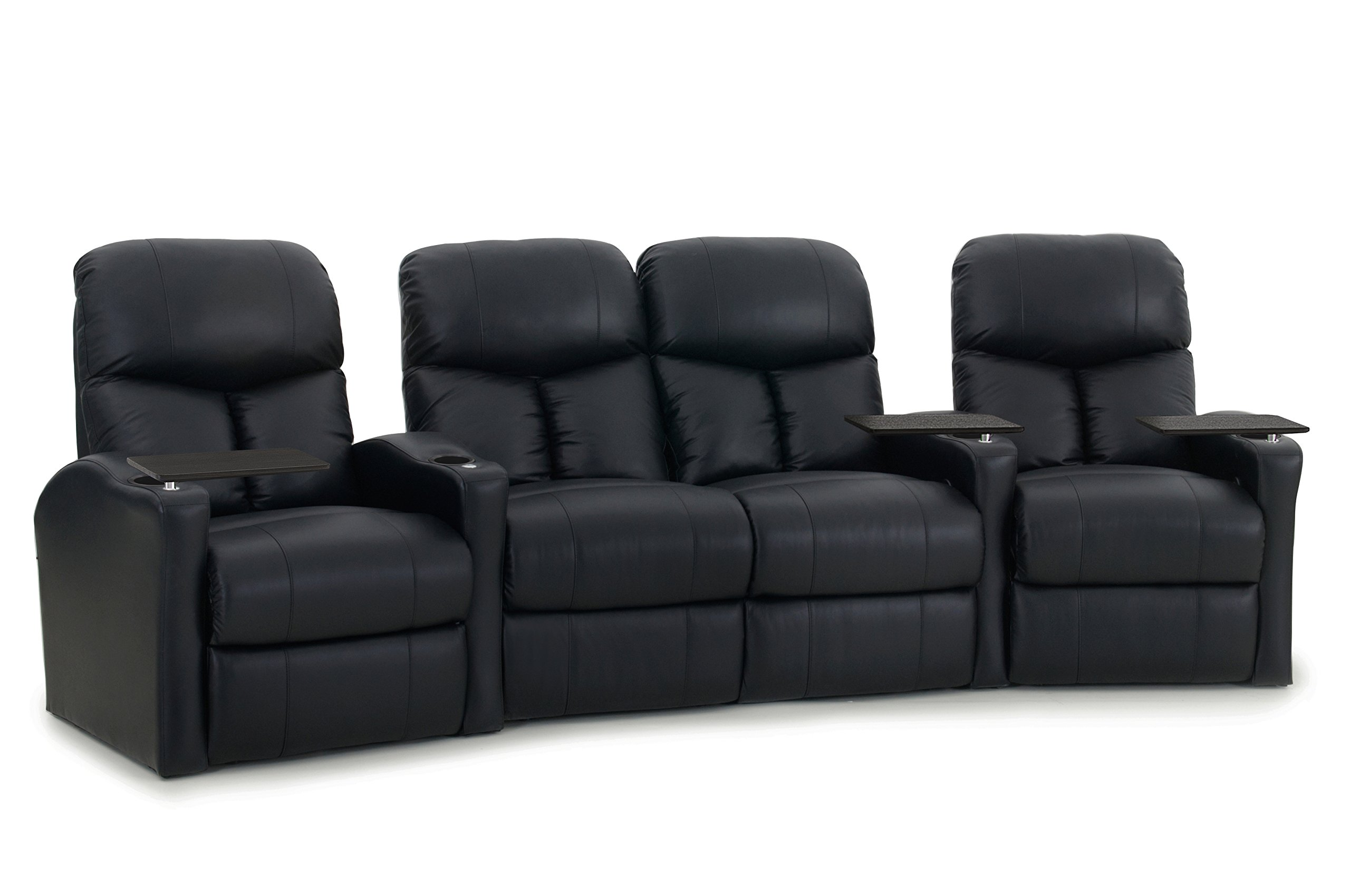 Octane Seating Octane Bolt XS400 Leather Home Theater Recliner Set (Row of 4) by Octane Seating