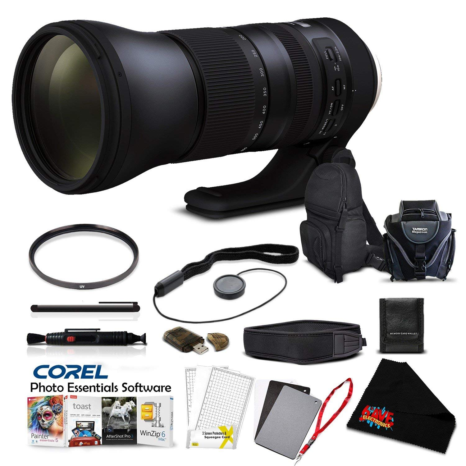 Tamron SP 150-600mm f/5-6.3 Di VC USD G2 Lens (International Version) for Canon EF Pro Accessory Kit by Tamron