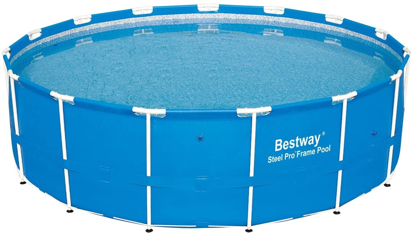 Bestway 12752e Steel Pro Above Ground 15ft X 48in Backyard Frame Pool Set For Kids Adults 15 Feet By 48 Inch Garden Outdoor