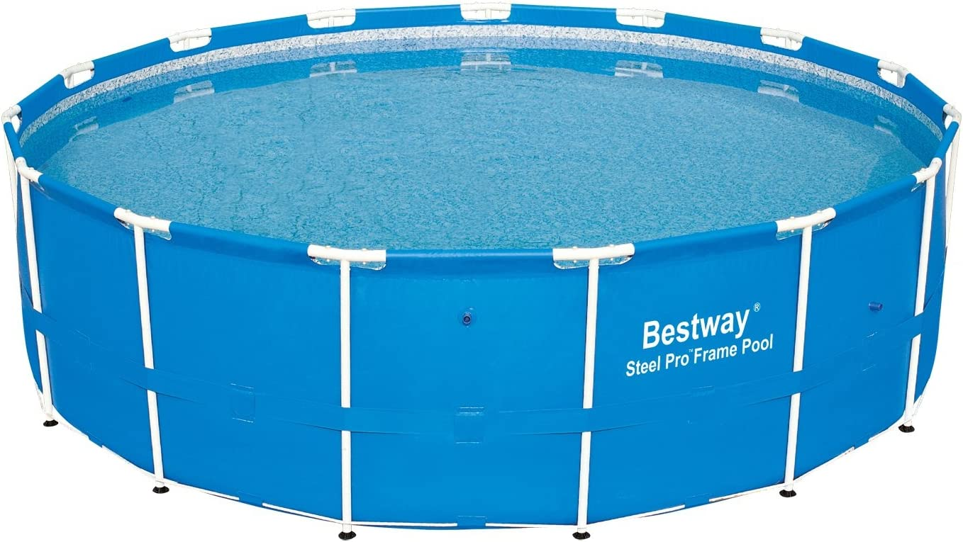 Bestway 12752E Steel Pro Above Ground 15ft x 48inc Backyard Frame Pool Set