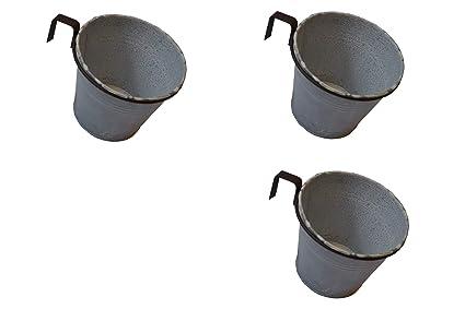 Dio 3x Pflanztopf Mit Halter Für Europalette Balkon Usw Metall