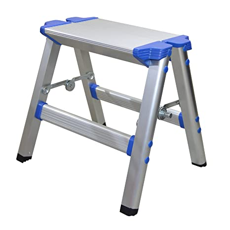 Awesome Wolf Aluminium Folding Step Up Ladder Stool With Non Slip Treads And Security Locks Ideal Multipurpose Work Platform For Odd Jobs Diy Decorating Squirreltailoven Fun Painted Chair Ideas Images Squirreltailovenorg