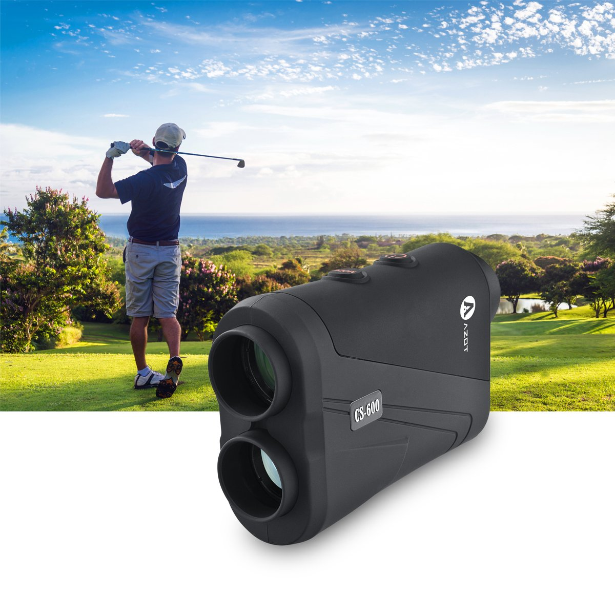 AZOT CS-600 Golf rangefinder Laser Range Finder with waterproof function Measure ranging and speed Free Battery by AZOT (Image #6)
