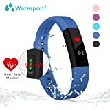 Fitness Tracker Watch With Heart Rate Monitor Bonebit Waterproof Outdoor Sportwatch with Pedometer Calories Counter and Sleep Monitor Bluetooth Wireless Smart Bracelet for Android& iOS Phone