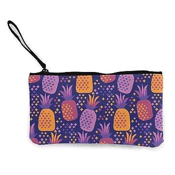 Canvas Cash Coin Purse,Sweet Pineapple Print Make Up Bag Zipper Small Purse Wallets