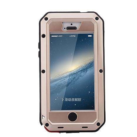 Funda para iPhone 5, iPhone 5s Carcasa de metal [Prueba de ...