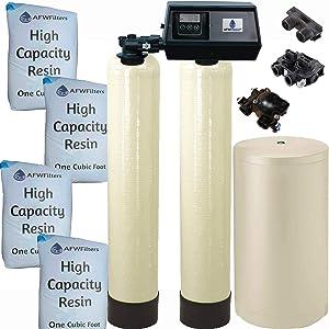 Abundant Flow Water WS-64k-91SXT 64k-91sxt dual tank softener, Almond