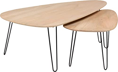 Porter Designs Graphik Nesting Tables, Natural