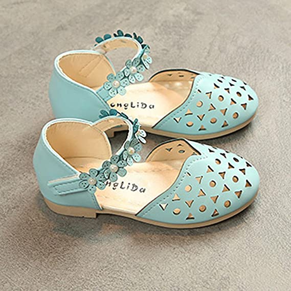 Amazon.com: Baby Girls Shoes, Baby Fashion Sneaker Child Girls Casual Sandals Floral Leather Pricness Shoes: Clothing