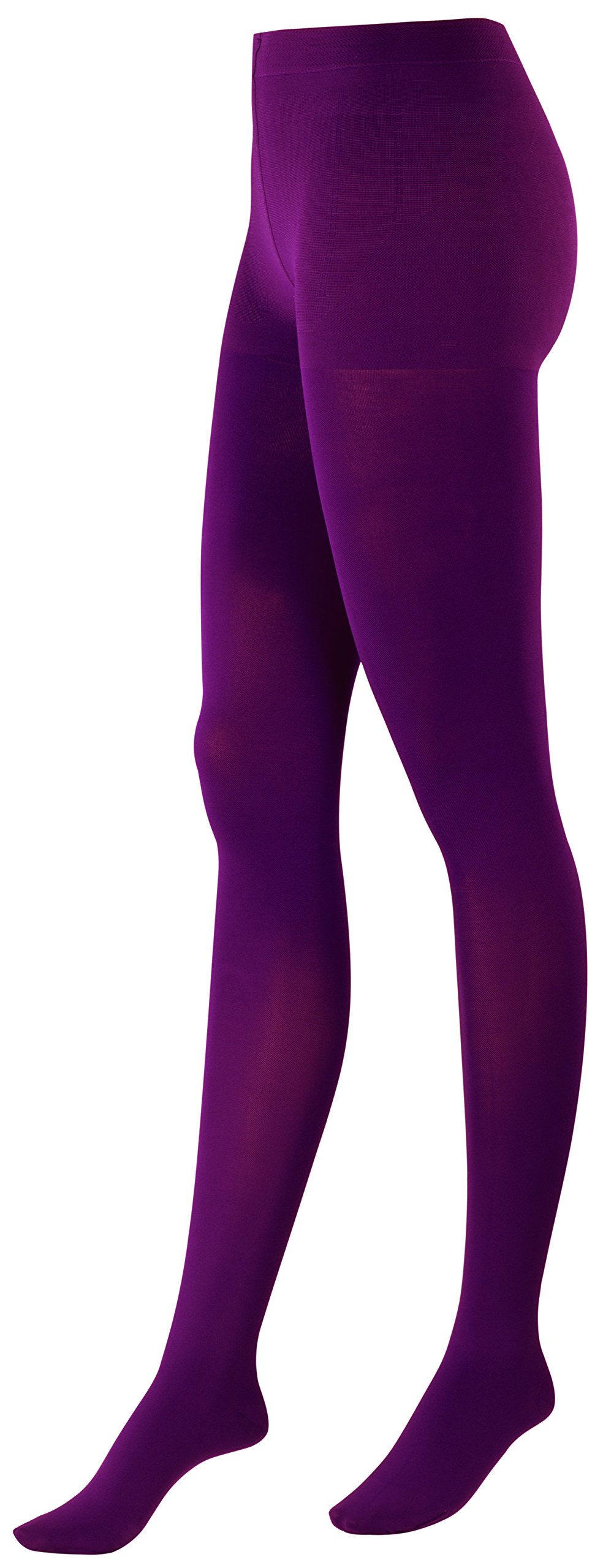 ITEM m6 Women's Energizing and Shaping Opaque Compression Tights, Bordeaux, Small, Tall