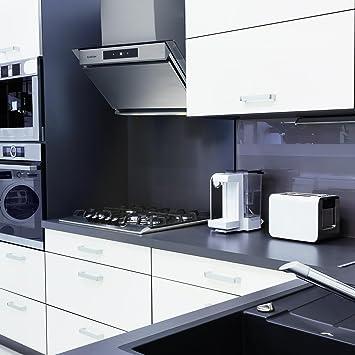 Klarstein Balzac - Campana extractora, Extractor de humos, Juego de extractor, 3 niveles, 640 m³/h,Táctil, 60 cm, 2 filtros de carbón activo: Amazon.es: Hogar