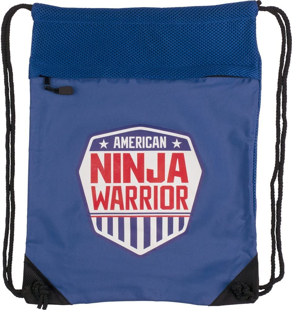 American Ninja Warrior Cinch Backpack - Royal - Official ANW Gear - Perfect Gift for ANW Fans