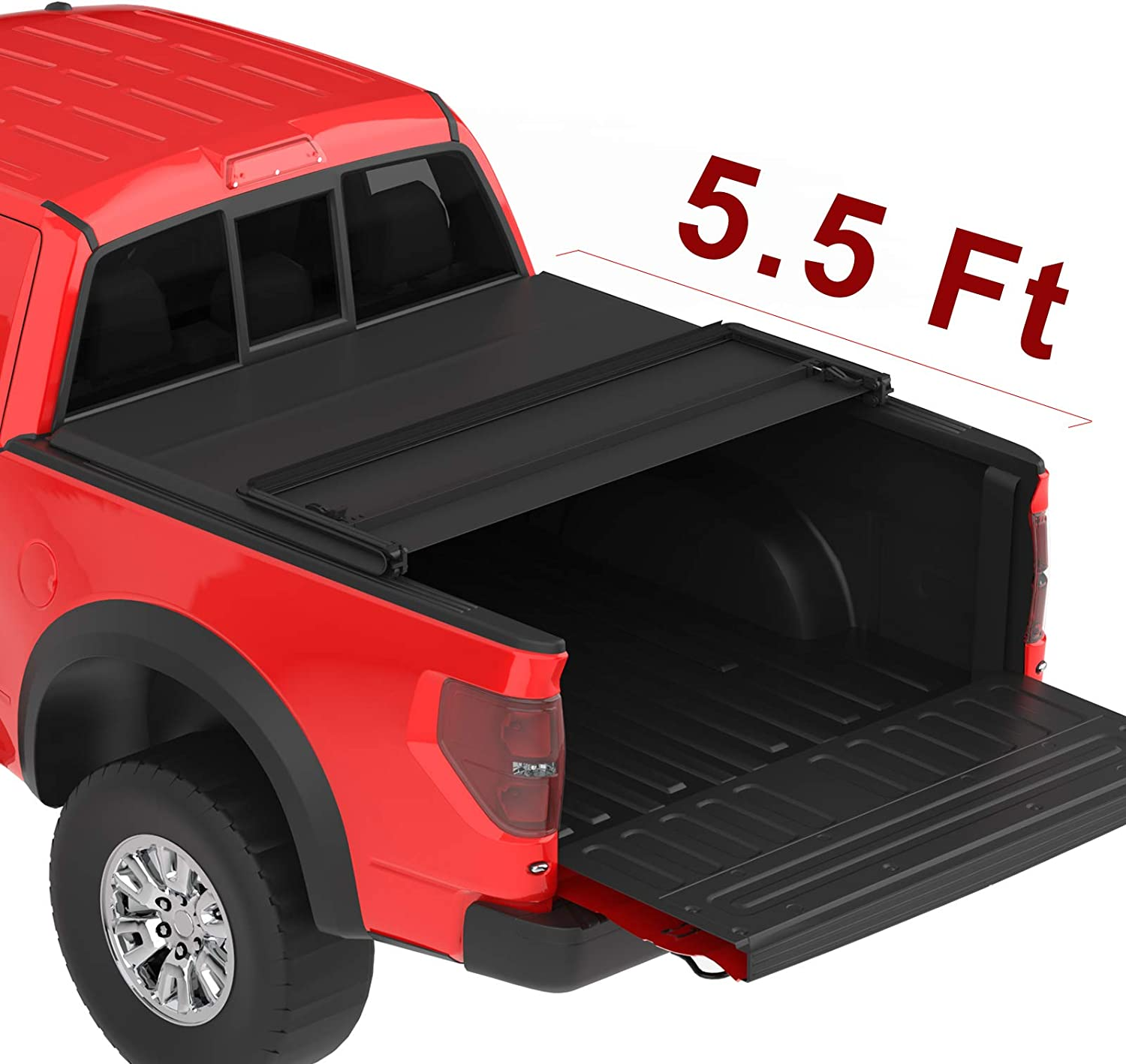 Best Tonneau Covers For Ford F150, oEdRo Upgraded Soft Tri-fold Truck Bed Tonneau Cover