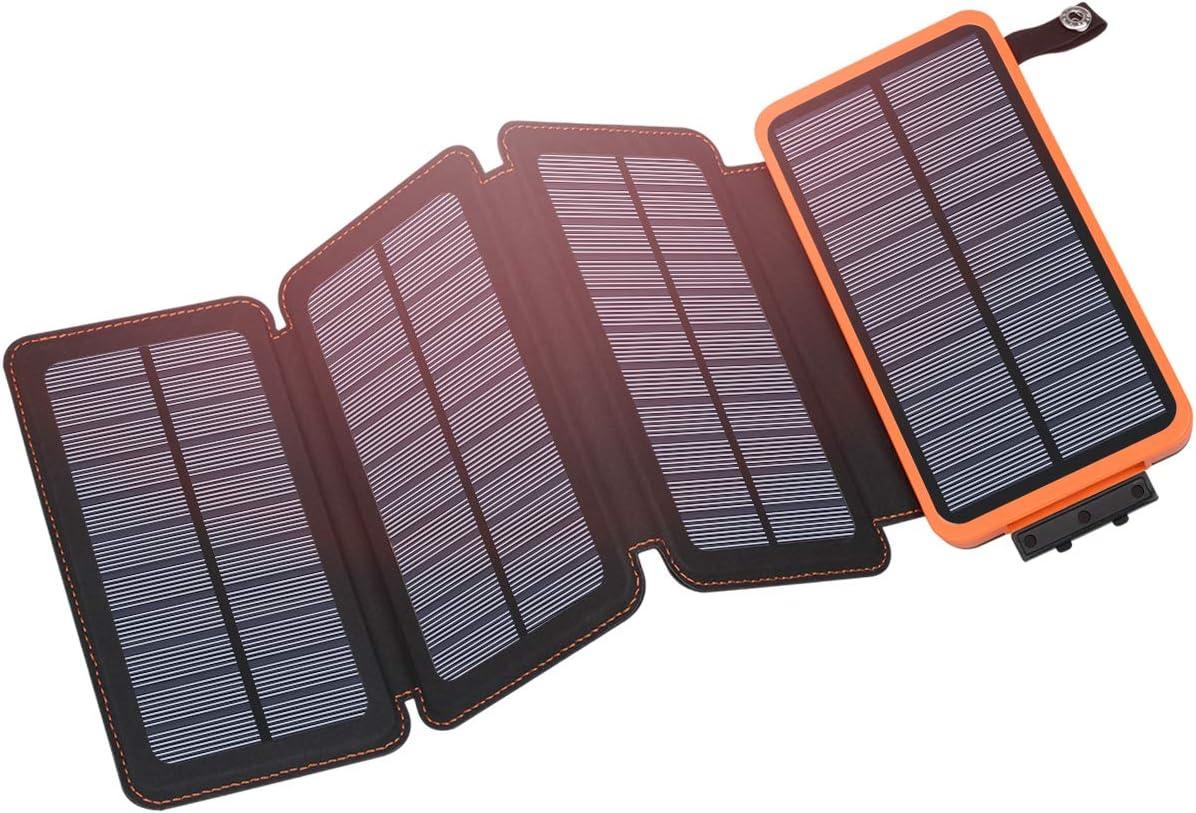 Hiluckey Outdoor Portable Solar Charger