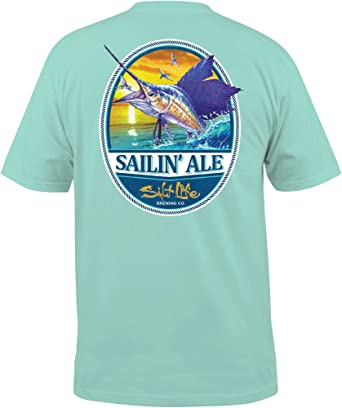 f317945d Amazon.com: Salt Life Men's Sailin' Ale T-Shirt: Clothing