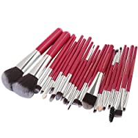 Keepwin 22 Pcs Maquillage Pinceaux Ensemble Complet Poudre Fondation Fard À Paupières Eyeliner Lèvres Brosse Cosmétique