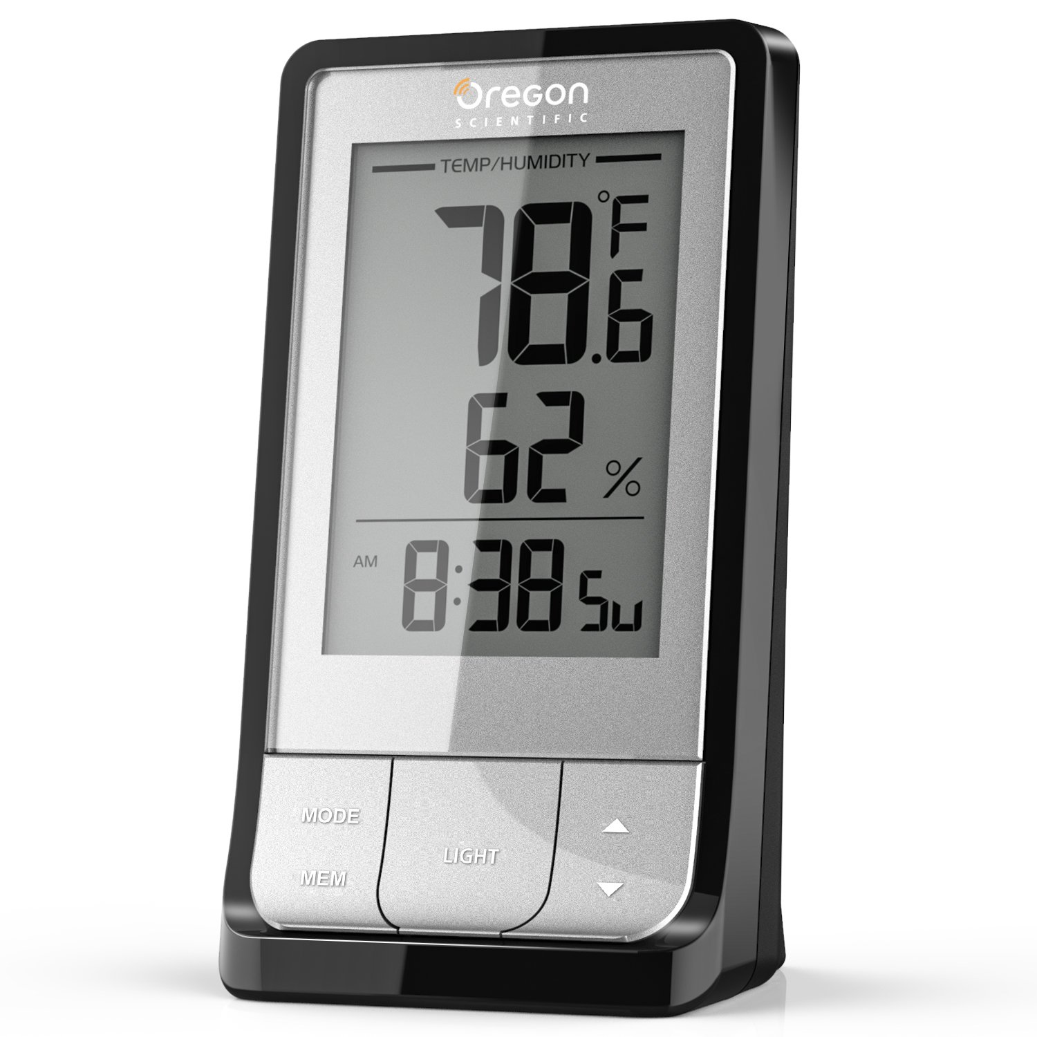 Humidity Monitor - Indoor Hygrometer Thermometer Temperature Humidity Gauge, 2 in 1 Humidity Meter Temperature Gauge with Accurate Sensors, Night Backlight, Time Display for Room Family Warehouse