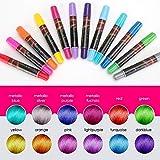 EZCO 12 Color Temporary Hair Chalk Pens Crayon